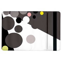 Gray, yellow and pink dots iPad Air Flip