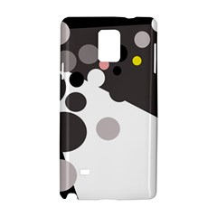 Gray, yellow and pink dots Samsung Galaxy Note 4 Hardshell Case