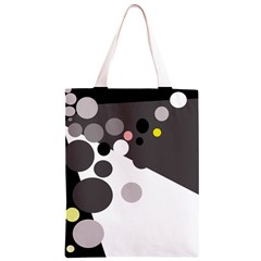 Gray, yellow and pink dots Classic Light Tote Bag
