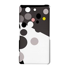 Gray, yellow and pink dots Sony Xperia Z3 Compact