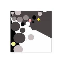 Gray, yellow and pink dots Satin Bandana Scarf