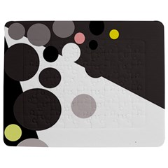 Gray, Yellow And Pink Dots Jigsaw Puzzle Photo Stand (rectangular)
