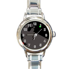 Colorful dots Round Italian Charm Watch