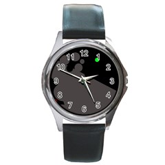 Colorful dots Round Metal Watch