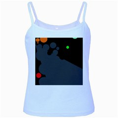 Colorful dots Baby Blue Spaghetti Tank