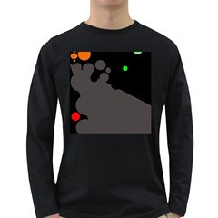 Colorful dots Long Sleeve Dark T-Shirts