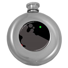 Colorful dots Round Hip Flask (5 oz)