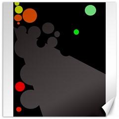 Colorful dots Canvas 20  x 20