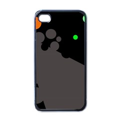 Colorful dots Apple iPhone 4 Case (Black)
