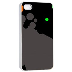 Colorful dots Apple iPhone 4/4s Seamless Case (White)