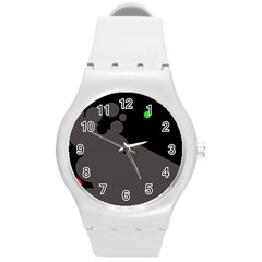 Colorful dots Round Plastic Sport Watch (M)