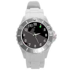 Colorful dots Round Plastic Sport Watch (L)