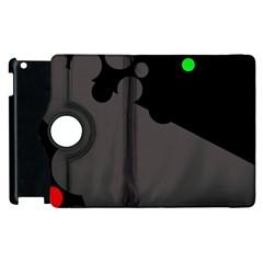 Colorful dots Apple iPad 3/4 Flip 360 Case