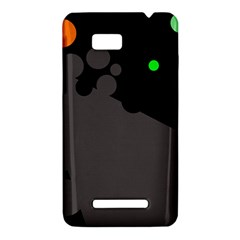 Colorful dots HTC One SU T528W Hardshell Case