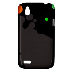 Colorful dots HTC Desire V (T328W) Hardshell Case