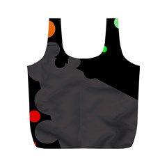 Colorful dots Full Print Recycle Bags (M)