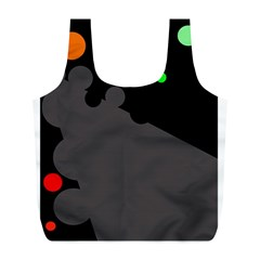 Colorful dots Full Print Recycle Bags (L)
