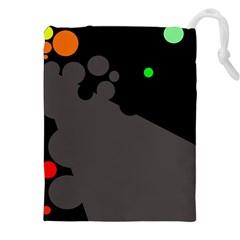 Colorful dots Drawstring Pouches (XXL)