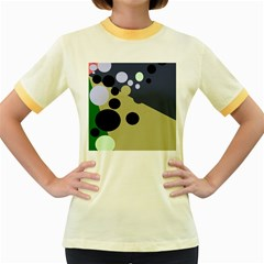 Elegant dots Women s Fitted Ringer T-Shirts