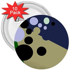 Elegant dots 3  Buttons (10 pack)