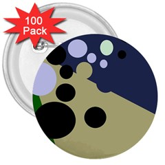 Elegant dots 3  Buttons (100 pack)