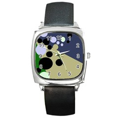 Elegant dots Square Metal Watch