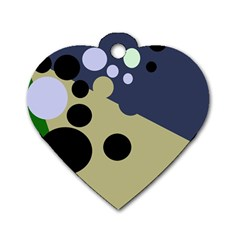 Elegant dots Dog Tag Heart (Two Sides)