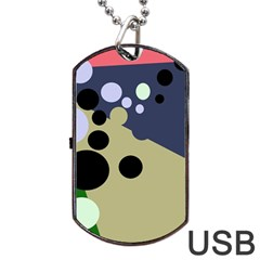 Elegant dots Dog Tag USB Flash (Two Sides)