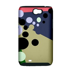 Elegant dots Samsung Galaxy Note 2 Hardshell Case (PC+Silicone)