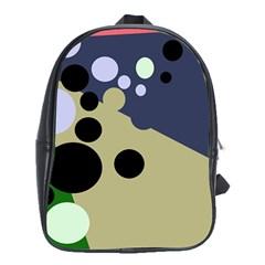 Elegant dots School Bags (XL)