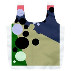 Elegant dots Full Print Recycle Bags (L)