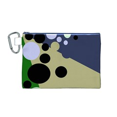Elegant dots Canvas Cosmetic Bag (M)