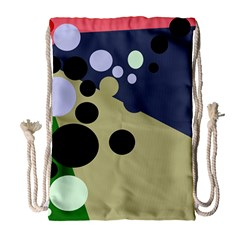 Elegant dots Drawstring Bag (Large)