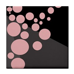 Pink dots Tile Coasters