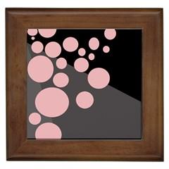 Pink dots Framed Tiles