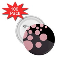 Pink dots 1.75  Buttons (100 pack)