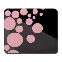 Pink dots Large Mousepads