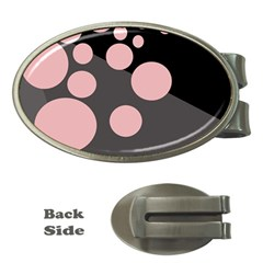 Pink dots Money Clips (Oval)
