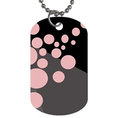 Pink dots Dog Tag (Two Sides)