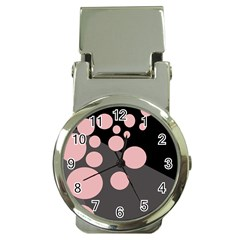 Pink dots Money Clip Watches