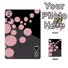 Pink dots Playing Cards 54 Designs