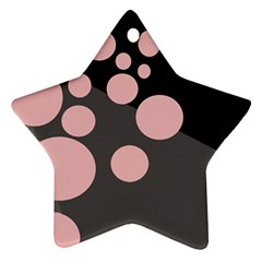 Pink dots Star Ornament (Two Sides)