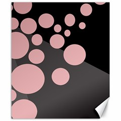 Pink dots Canvas 8  x 10