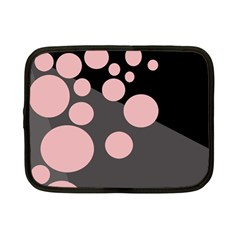 Pink dots Netbook Case (Small)