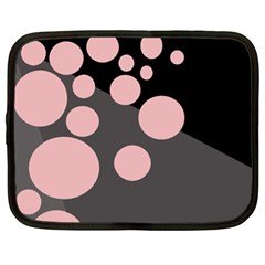 Pink dots Netbook Case (XL)