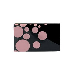 Pink dots Cosmetic Bag (Small)