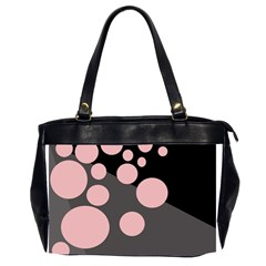 Pink dots Office Handbags (2 Sides)