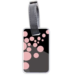Pink dots Luggage Tags (Two Sides)