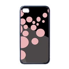 Pink dots Apple iPhone 4 Case (Black)