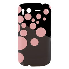 Pink dots HTC Desire S Hardshell Case